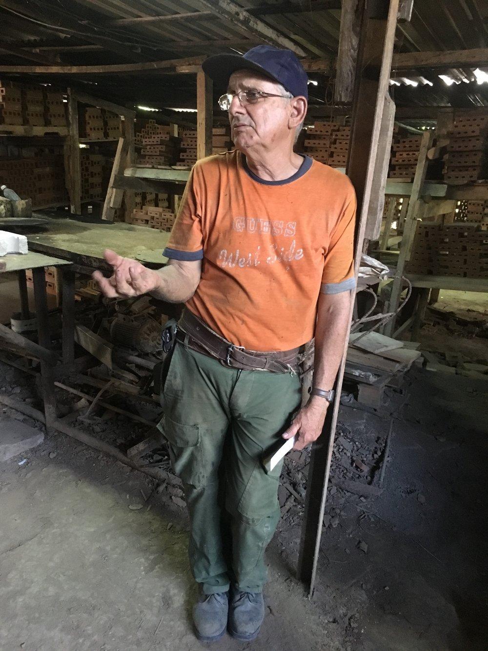 A local artisan in Cuba