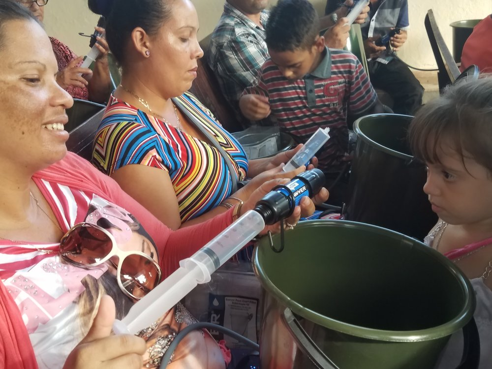 Families coming together for clean water
