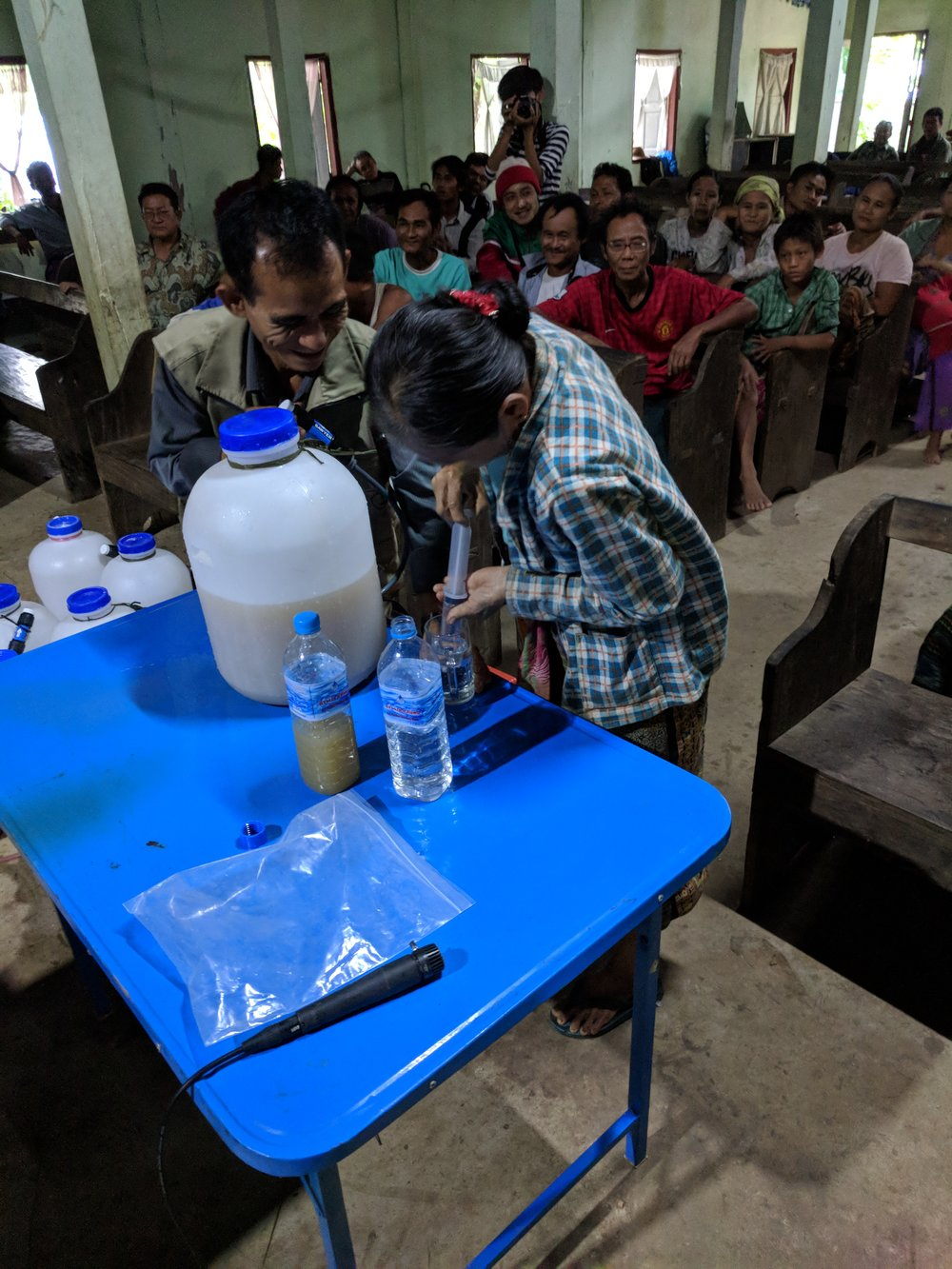 Fig. 1 Filter demonstration in the Delta Region of Myanmar.