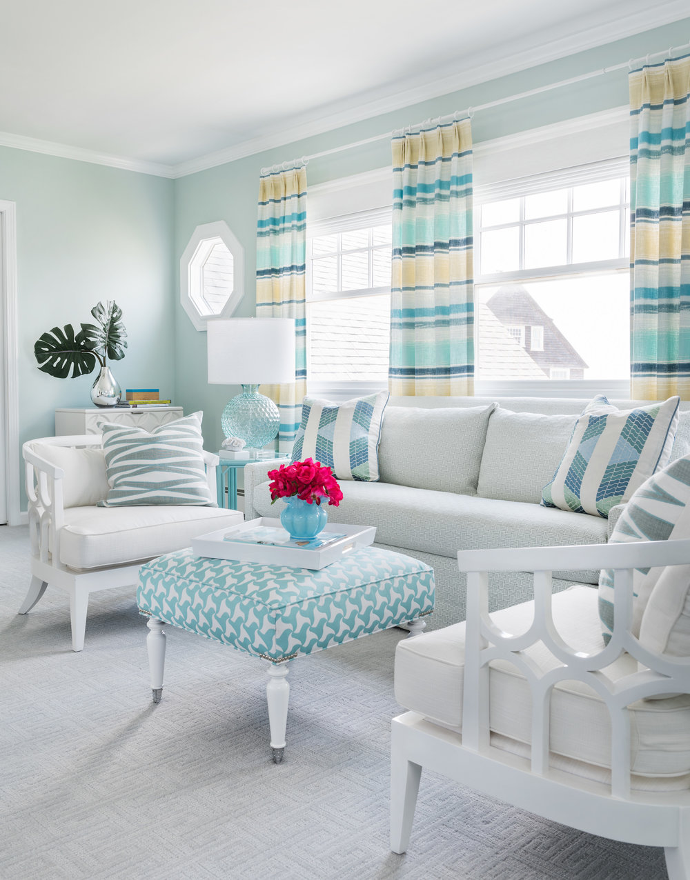 interior design, Easton's Beach, Newport, Rhode Island, beach decor, beach style, turquoise, aqua,