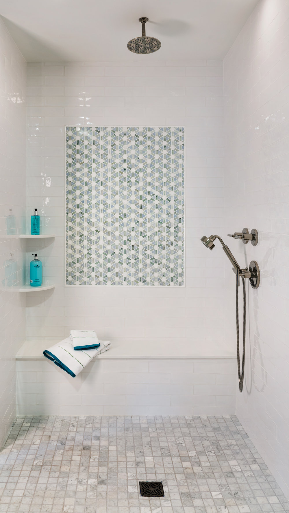 Newport, Rhode Island, bathroom, bathroom design, tile work, tile design, beach style