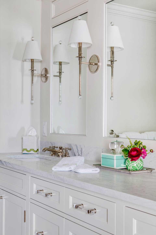bathroom, vanity, white, lighting