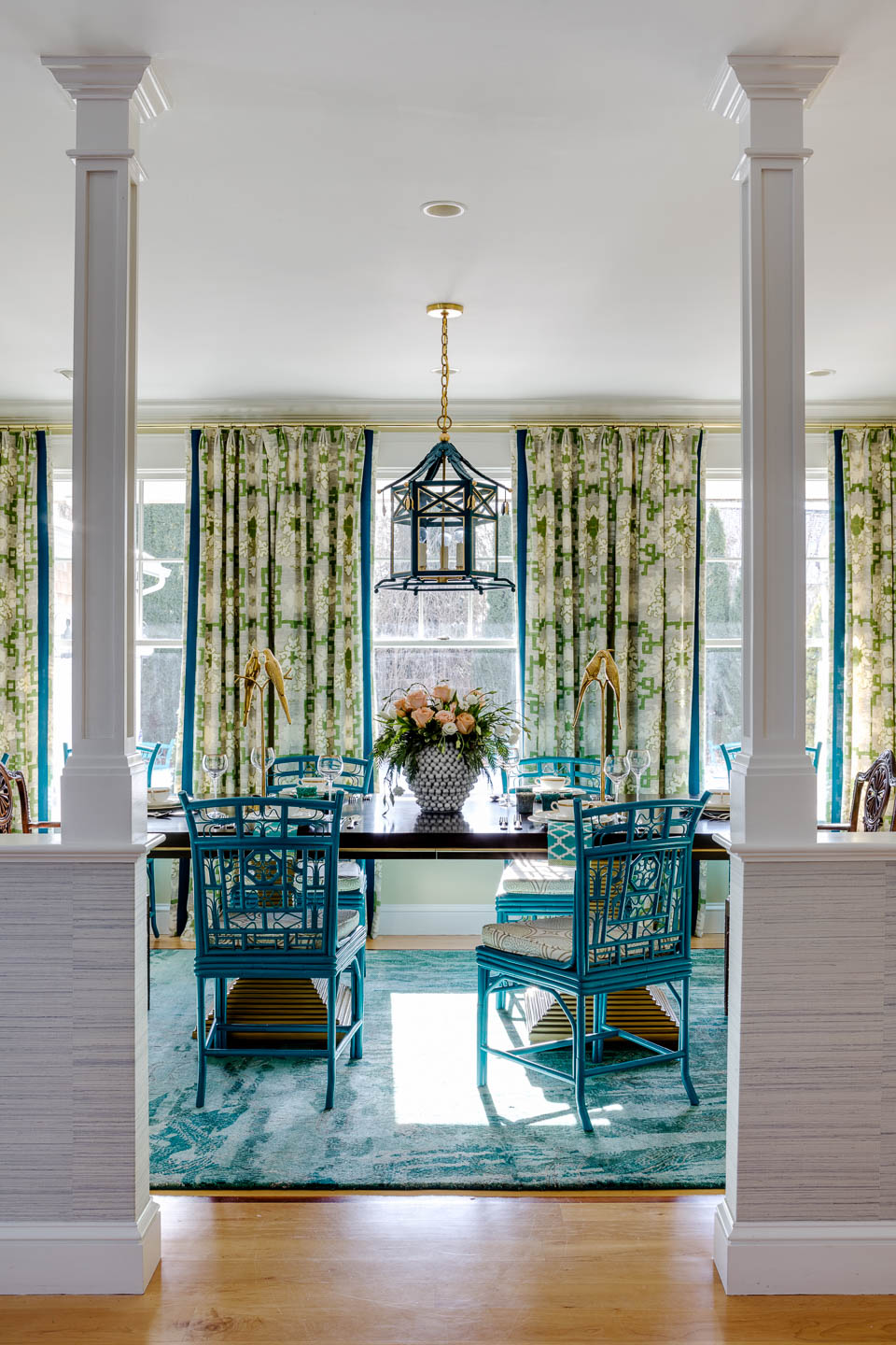 Digs, Digs Design, Matunuck, Matunuck Beach, Beach Design, Rhode Island Interior Design, Interior Design, Renovation, Dining Room, Dining Room Design, Coastal Living, Turquoise, Dining Room Decor, Table Decor