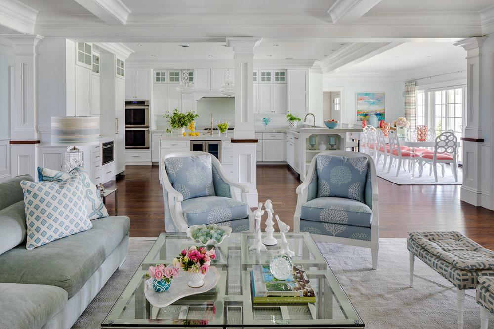 Dinardo Bailey Summer house, summerhouse, summerhouse design, great room design, kitchen design, open concept, beach house, east coast, beach design