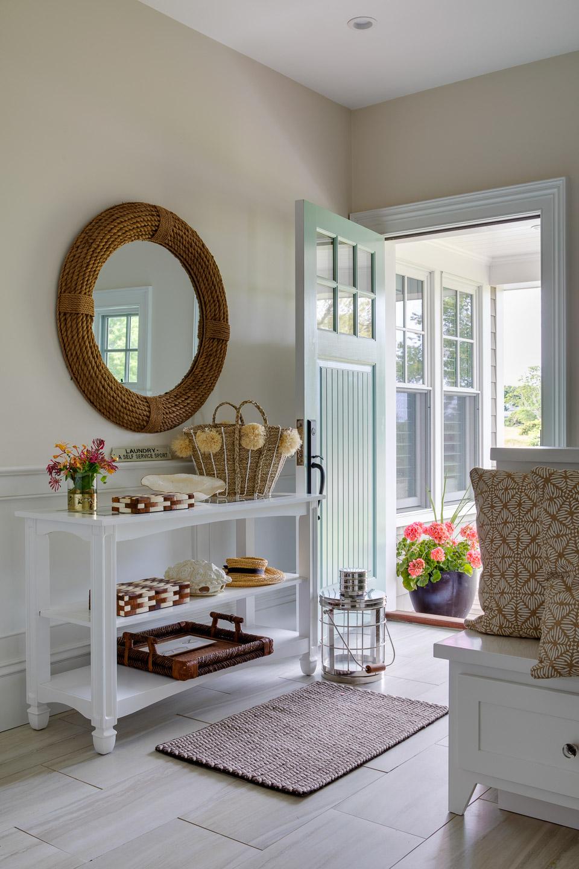 Dinardo Bailey Summer house, summerhouse, summerhouse design, front door, entryway, entryway console,beach house, east coast, beach design