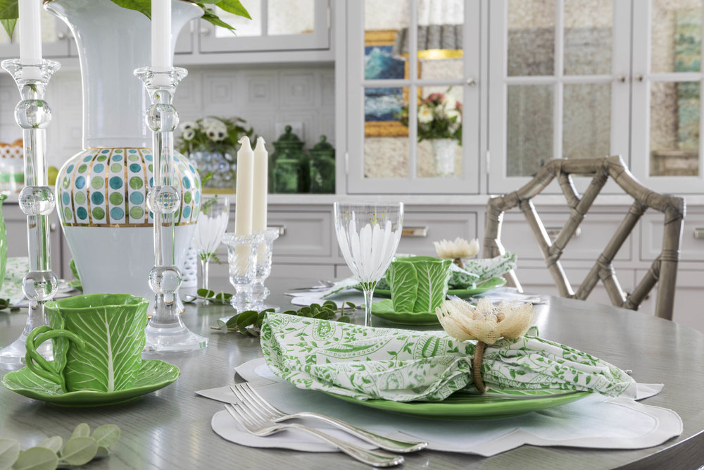 Benefit Street, Providence, Rhode Island, table setting, leaf plates, kitchen design, interior design, jocelyn chiappone, digs design, digs interior design, digs design company