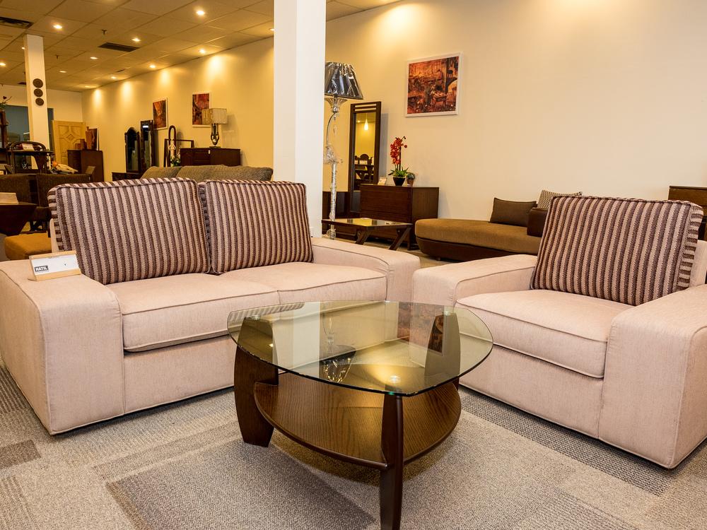 Model: 239-2-1-88. Sofa with wide arm. 3+2+1 setup.