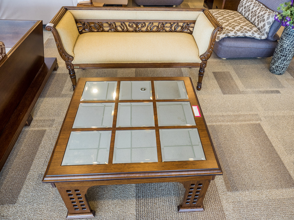Reg: $750. NOW: $650. Divan with back pattern (center table not included)