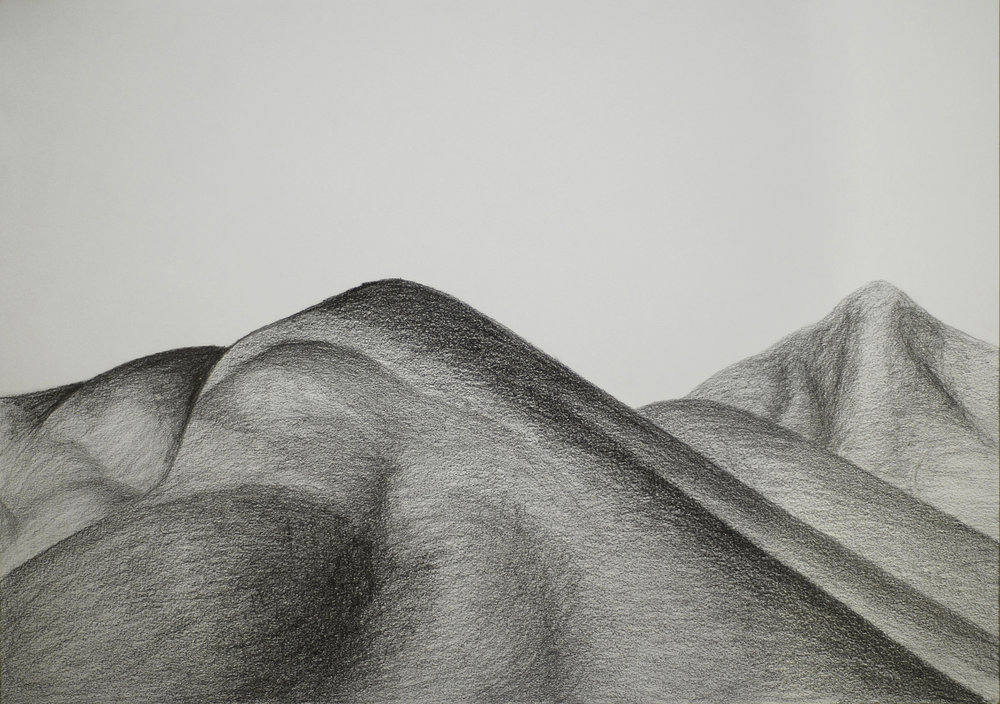 Alcúdia charcoal on paper 29,7 cm × 42 cm 2017