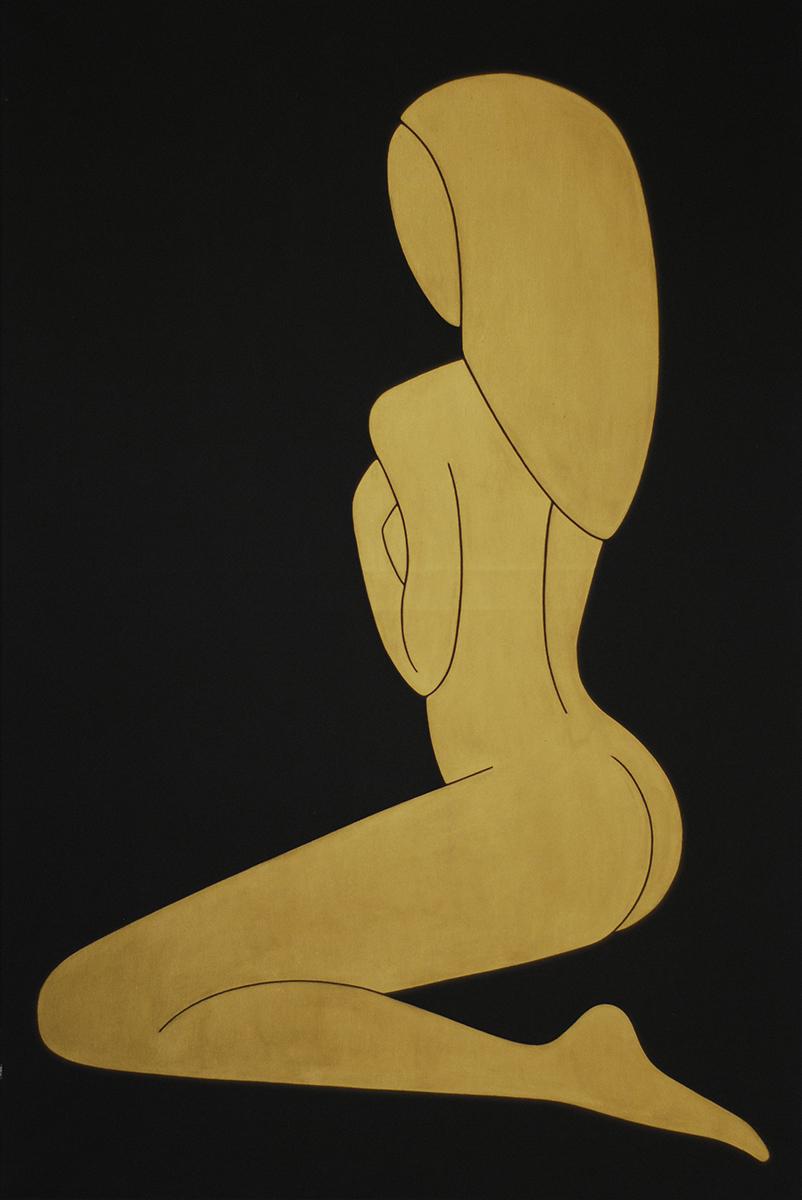 golden girls #3 acrylic on canvas,120 cm x 80 cm, 2015