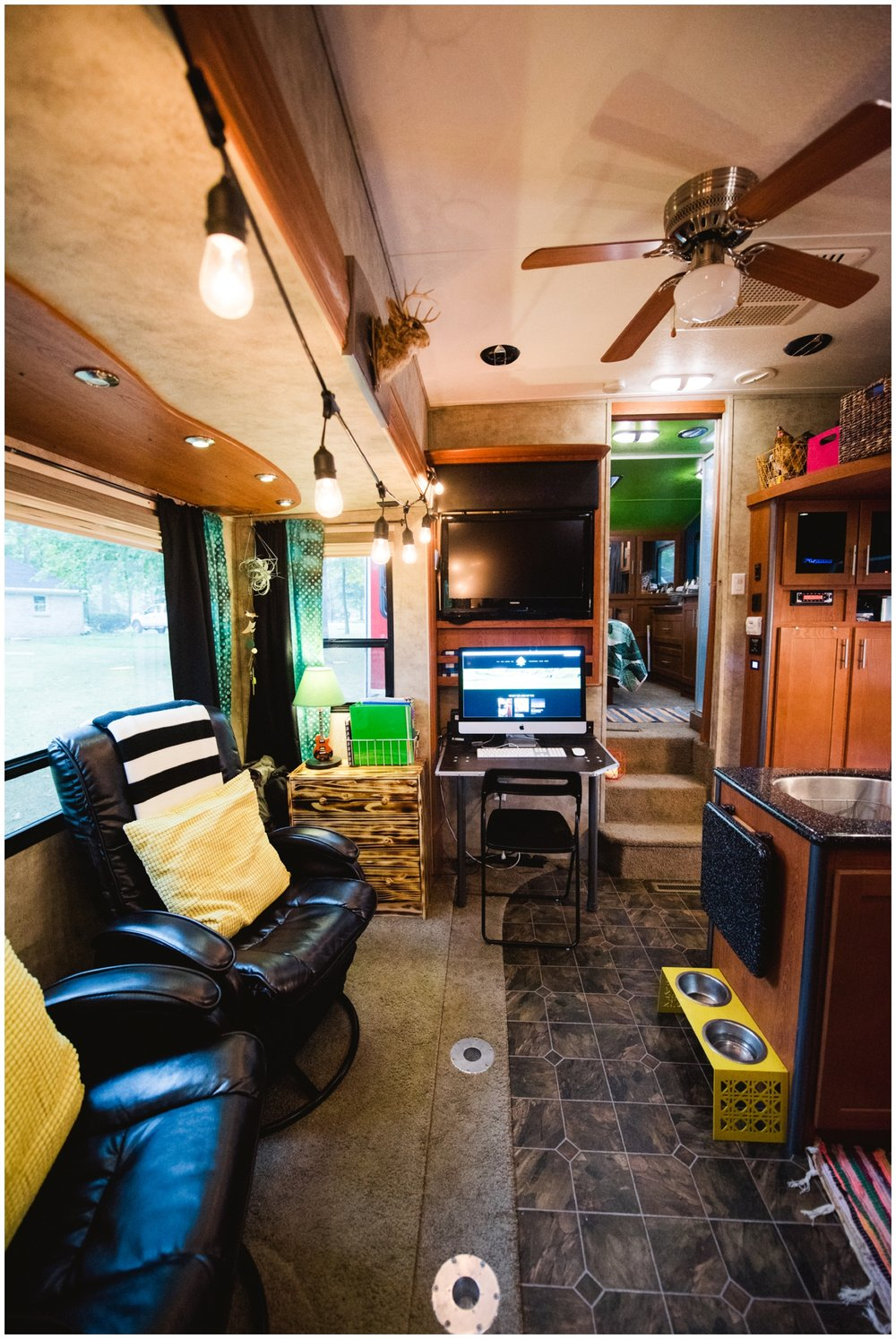 office in rv camper diy