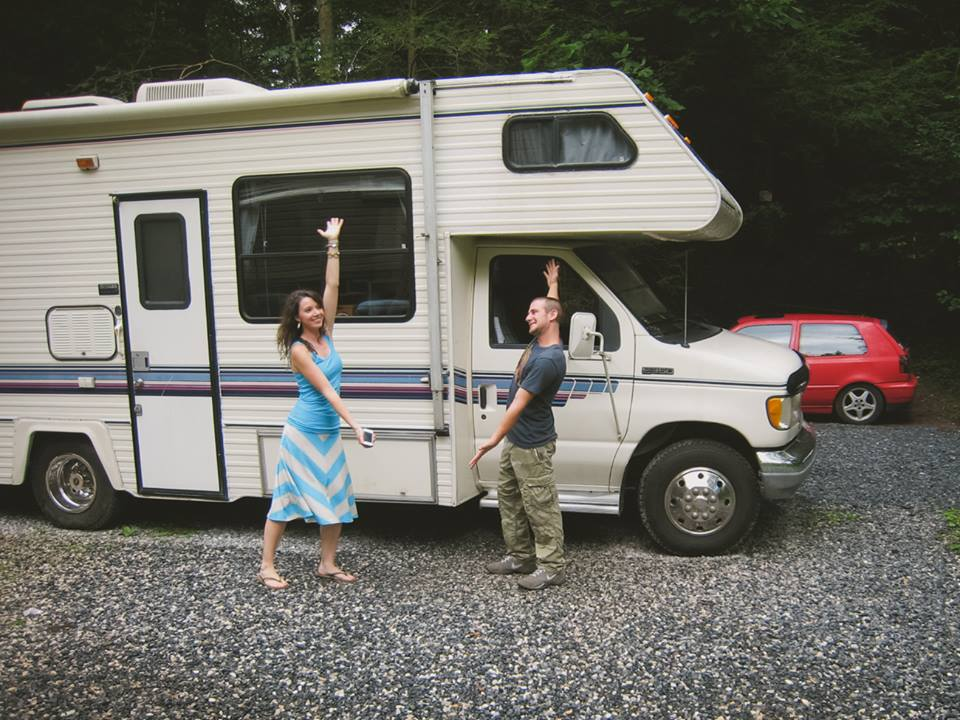 OUR FIRST RV (This is 2 weeks after meeting each other)