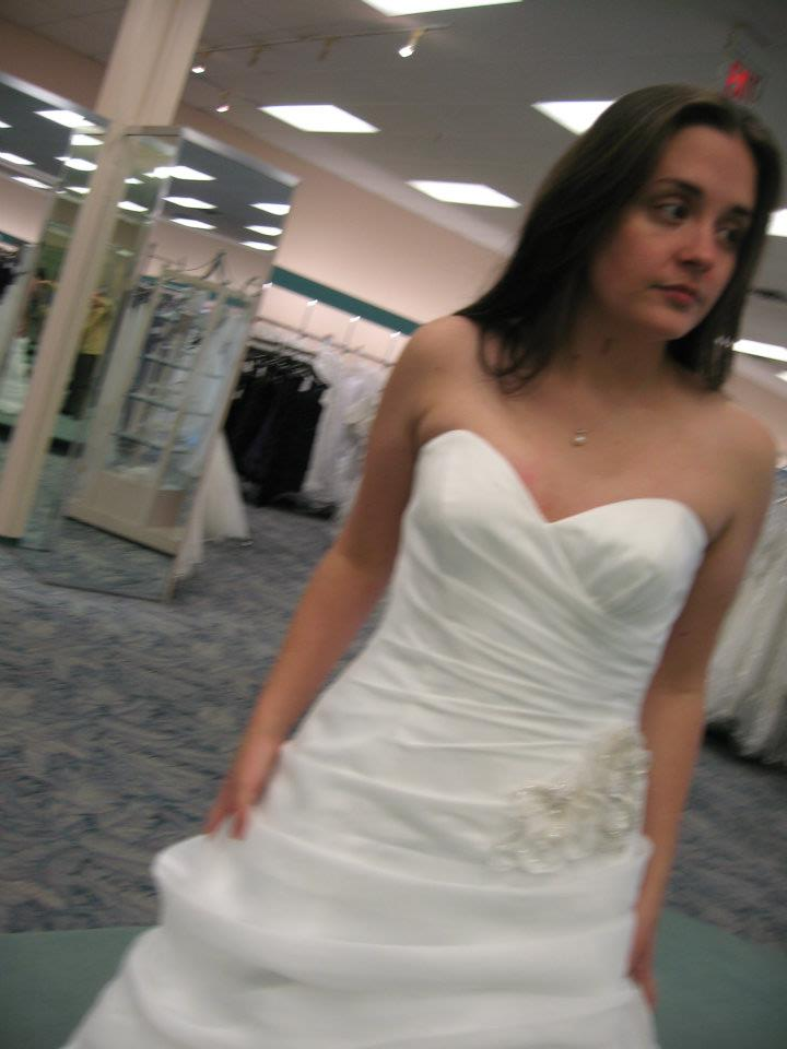 snapshot: wedding dress shopping in pain.