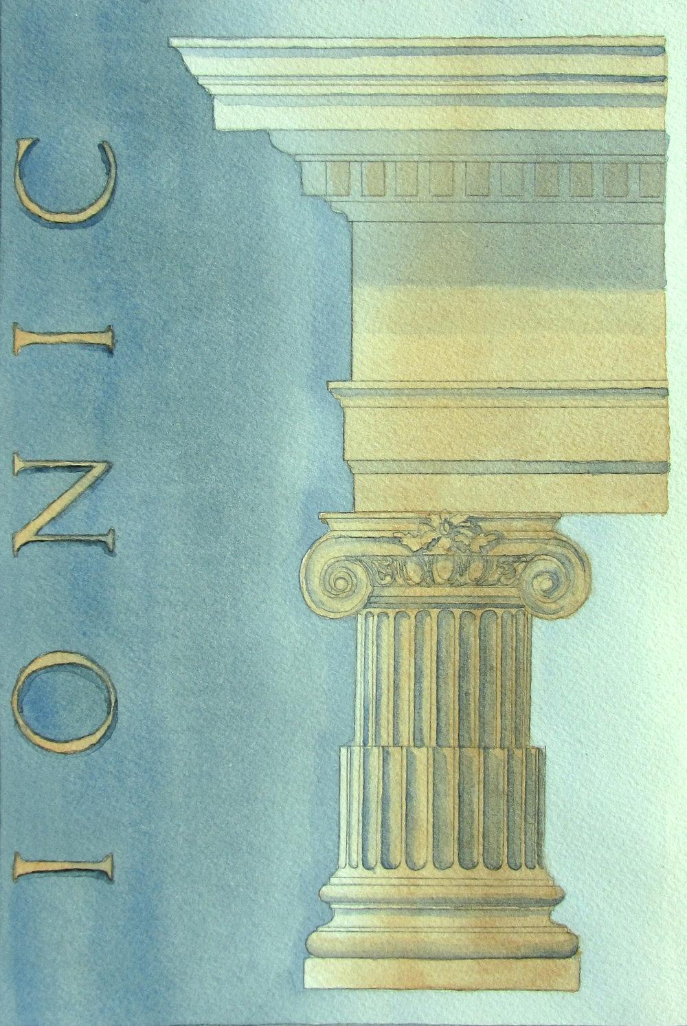Ionic Column - Artwork by Rebecca Noll