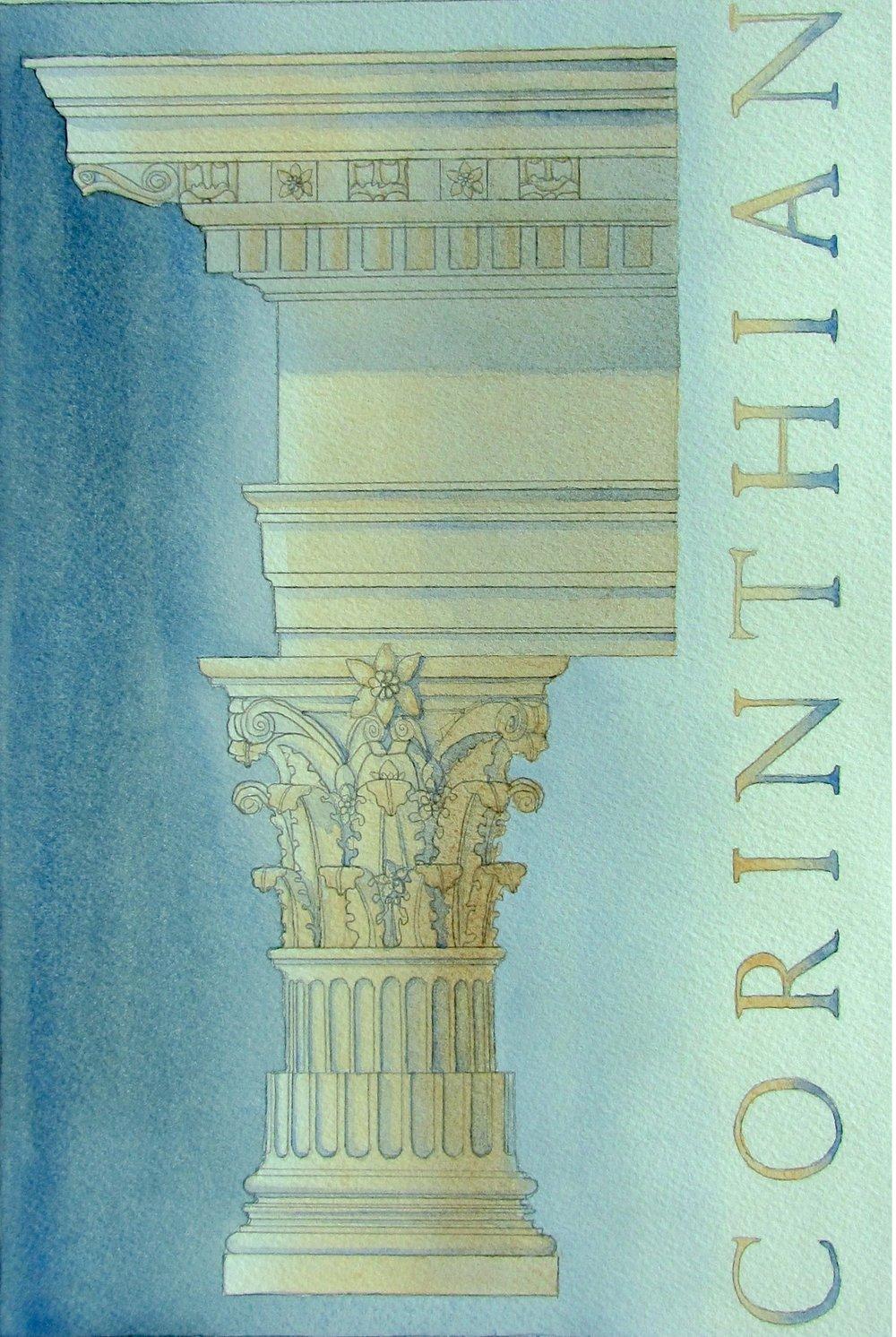 Corinthian Column - Artwork by Rebecca Noll