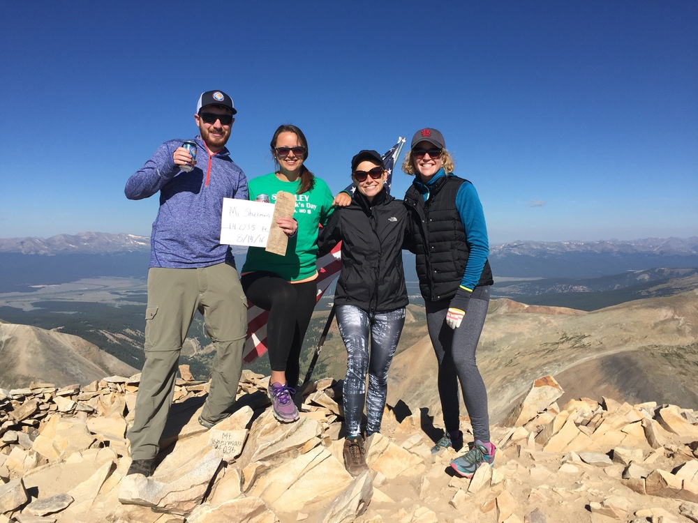 Important thing to note: If you bring a Which Which paper bag to the top of a 14er and take a picture, you get a free sandwich. Who knew?