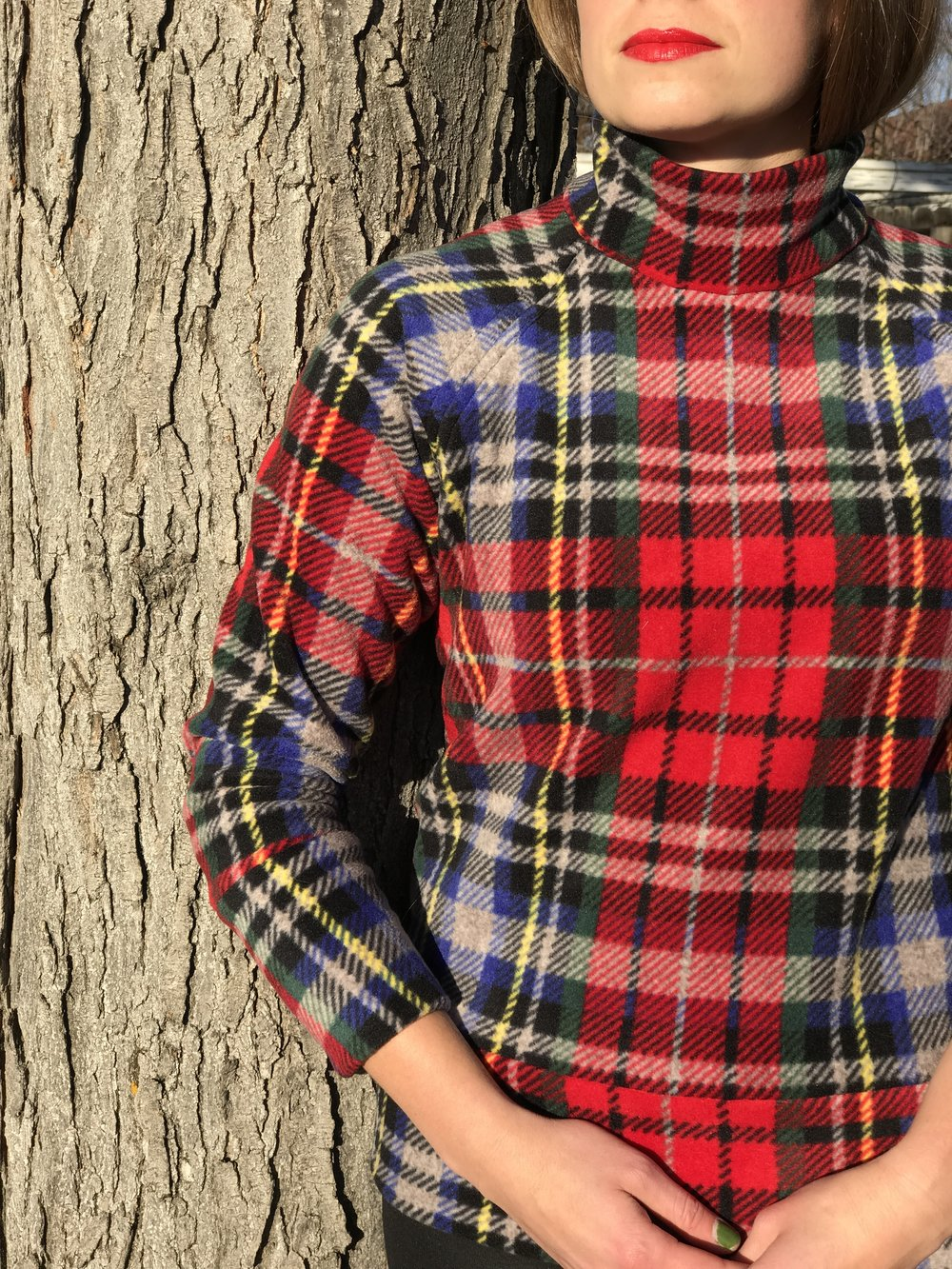 Sew House Seven Plaid Toaster Sweater