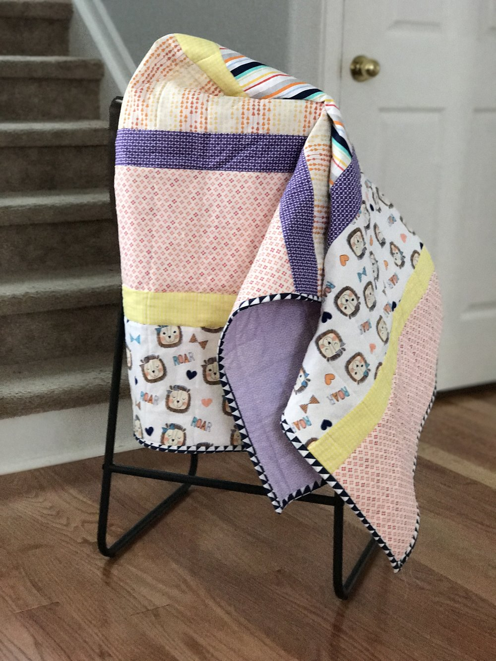 Striped Baby Quilt