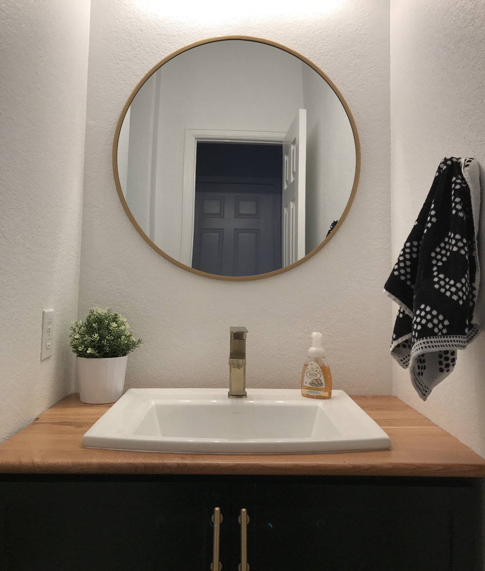 Half Bath  Budget Renovation