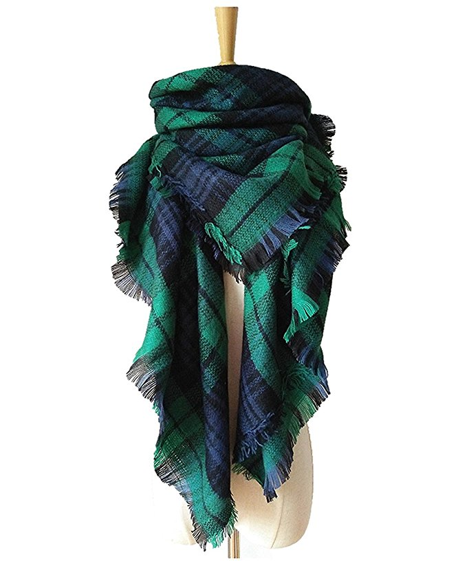 Amazon Plaid Blanket Scarf ($12!!!)