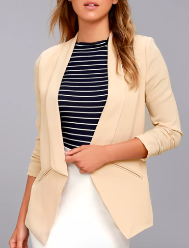 Taupe Long Cut Blazer