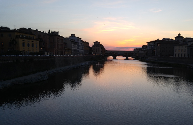 Florence, Italy at sunset. A shot from our vacation back in May.