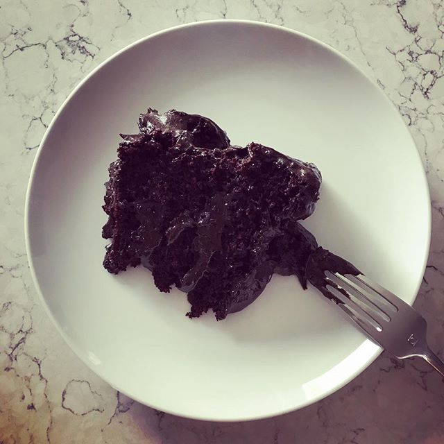 I call this 'oh my god I'm still pregnant' triple layer dark chocolate cake. I highly recommend it if you like eating your feelings. #39weeks