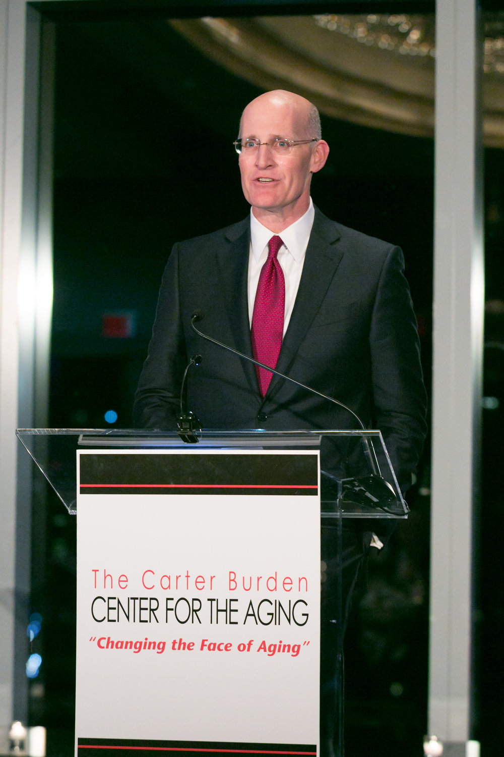 Andy Sieg   , Head of Global Wealth & Retirement Solutions, Bank of America Merrill Lynch, 2016 Humanitarian Honoree speaking at the Carter Burden Network's 45th Anniversary Gala: Celebrating Volunteerism