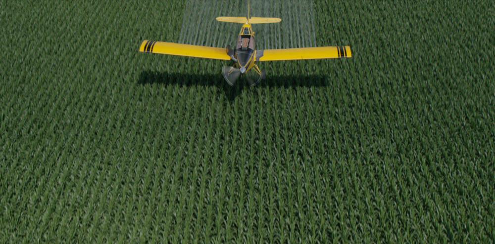 Corn Crop Duster Drone Aerial Photo