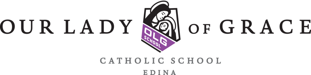 Example: OLG School Logo BLACK Text (Catholic School Edina).png