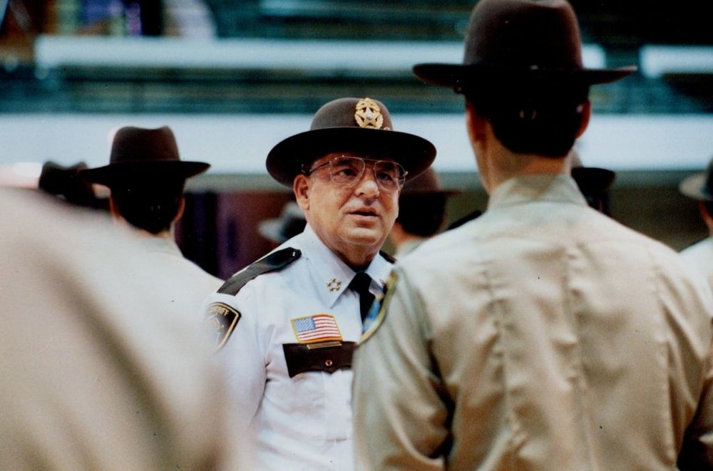 Sheriff Don Omodt is shown in 1989. Photo by: CHARLES BJORGEN, STAR TRIBUNE