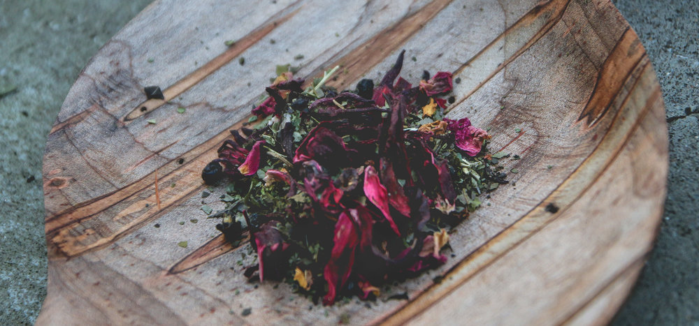 Asheville Tea Company loose leaf Elderberry Yaupon. Photo by Aubrie Shramko.