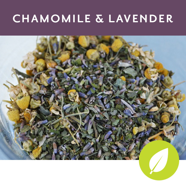 CHAMOMILE & LAVENDER Supremely Calming Herbal tisane with chamomile, lavender, anise hyssop and tulsi