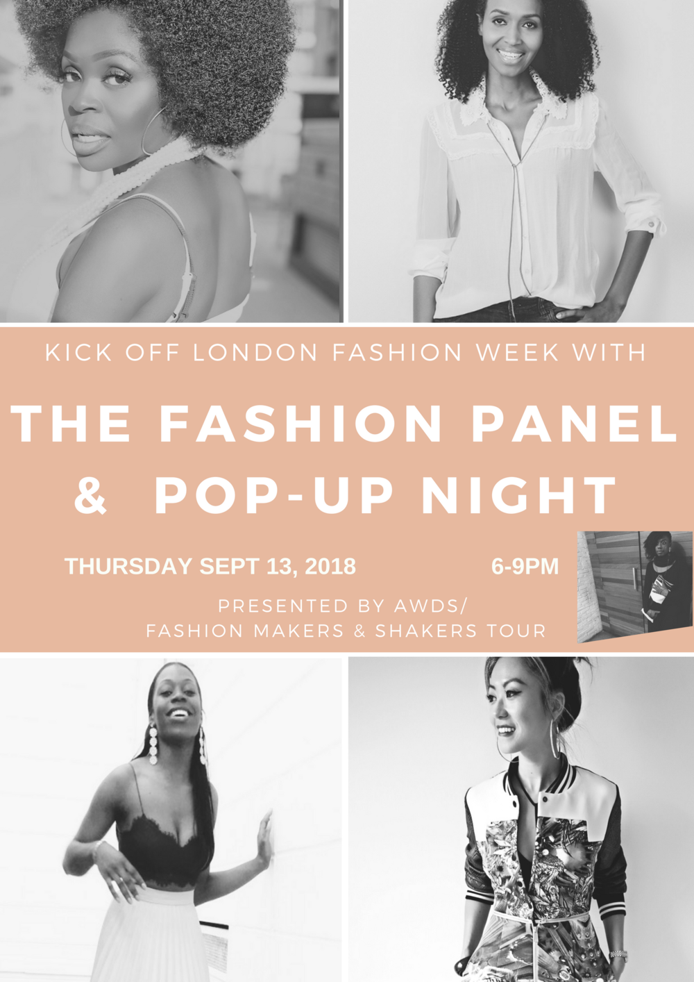 The FASHION PANEL AND POP-UP EVENT: LONDON EDITION - THURSDAY, SEPT 13, 6-9PMBUY TICKETS HERE