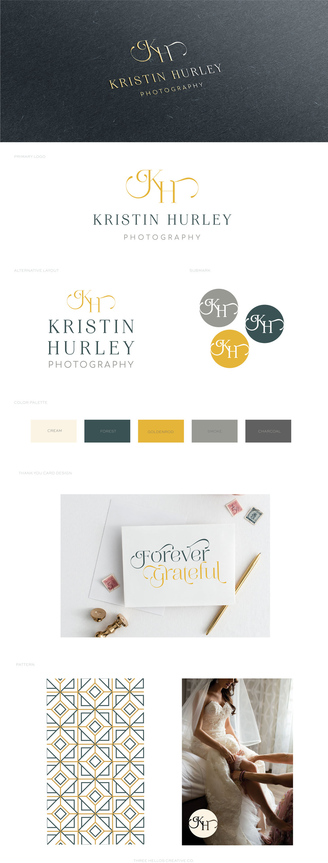 KRISTIN HURLEY PHOTOGRAPHY - MODERN PHOTOGRAPHER BRANDING - MODERN LOGO DESIGN - PHOTOGRAPHY BRANDING - PHOTOGRAPHER BRANDING