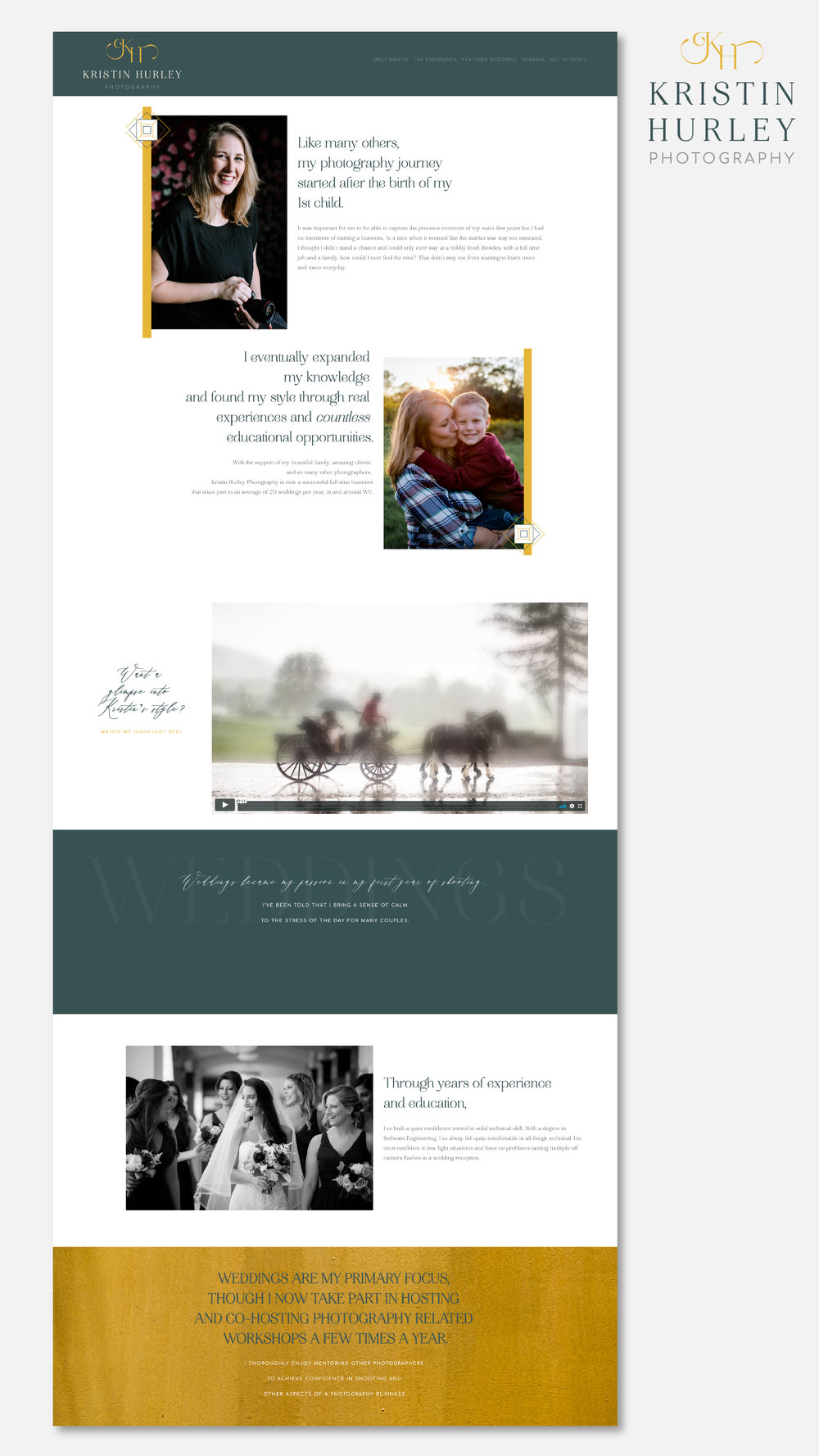 THREE HELLOS CREATIVE CO. KRISTIN HURLEY PHOTOGRAPHY BRANDING AND WEBSITE DESIGN