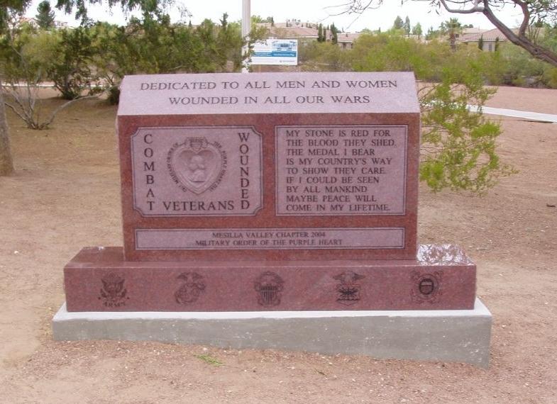 The new Purple Heart Monument, Veterans Memorial Park - Las Cruces, NM