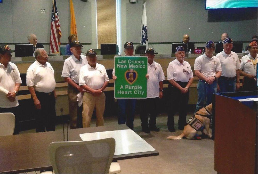 August 2015, Purple Heart city designation