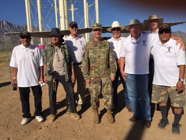 The Bataan March volunteers with Brig . Sanchez WSMR Commander 3/19/17