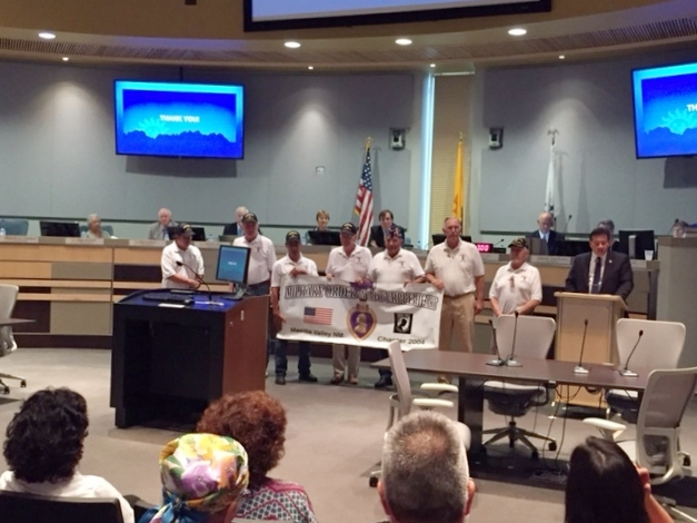 National Purple Heart Day, receiving a City of Las Cruces Mayors proclamation.
