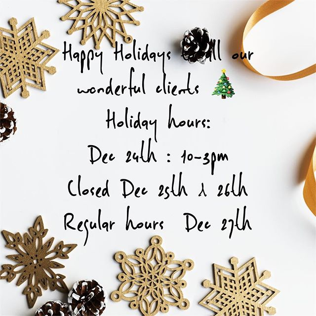 Holiday Hours 🎄