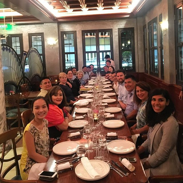 First group dinner! We'll let you imagine the delicious food that came next... #optixproject #optixlearning