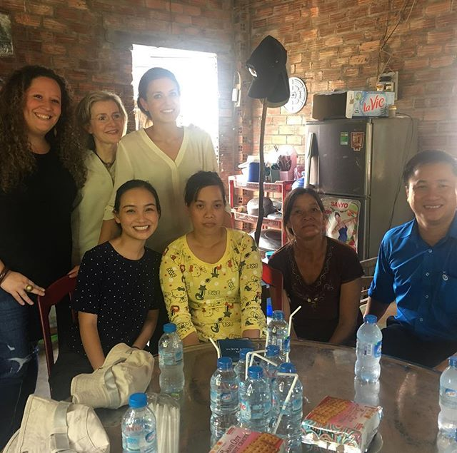 Visiting a client home in Cu Chi. She's a garment factory worker and saved 100$ in her voluntary savings account so far.. 🙌🏼. #optixproject #optixpsn2017