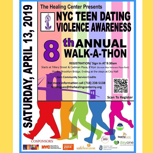 Are you looking for #CommunityService opportunities?  Be sure to register for the #NYC Teen Dating Violence Awareness Walk-a-thon coming up next month!!