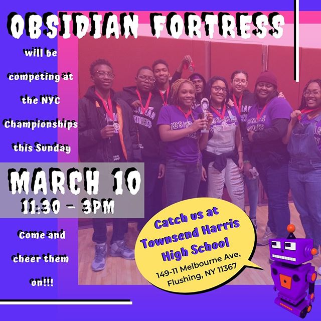 Come and represent #EastNY tomorrow in Queens as we cheer on our own #AFYW Obsidian Fortress at the #NYCChampionships!! Get there early!!