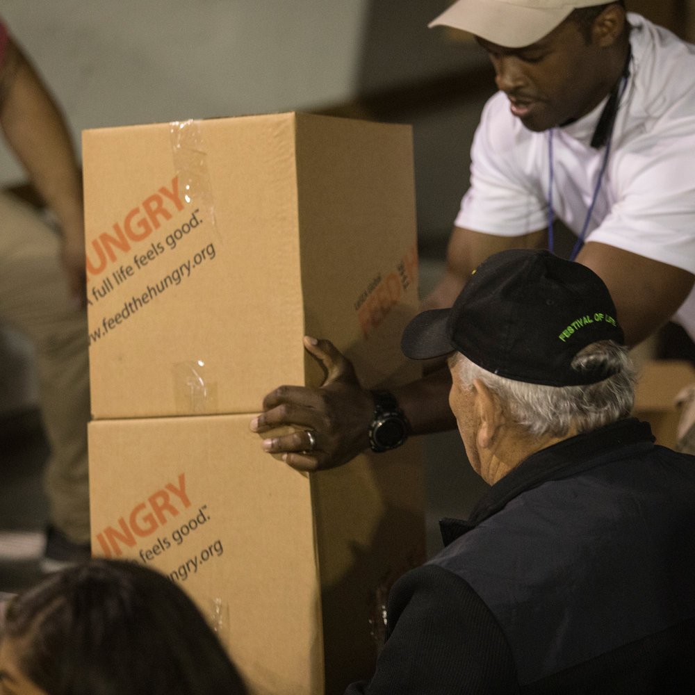 Festival of Life, Grocery Giveaways, Feed the Hungry