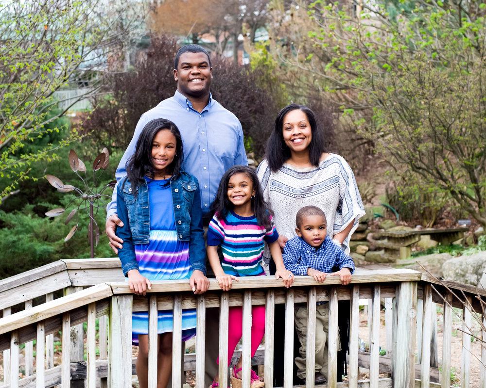 Katina Hamlar and family