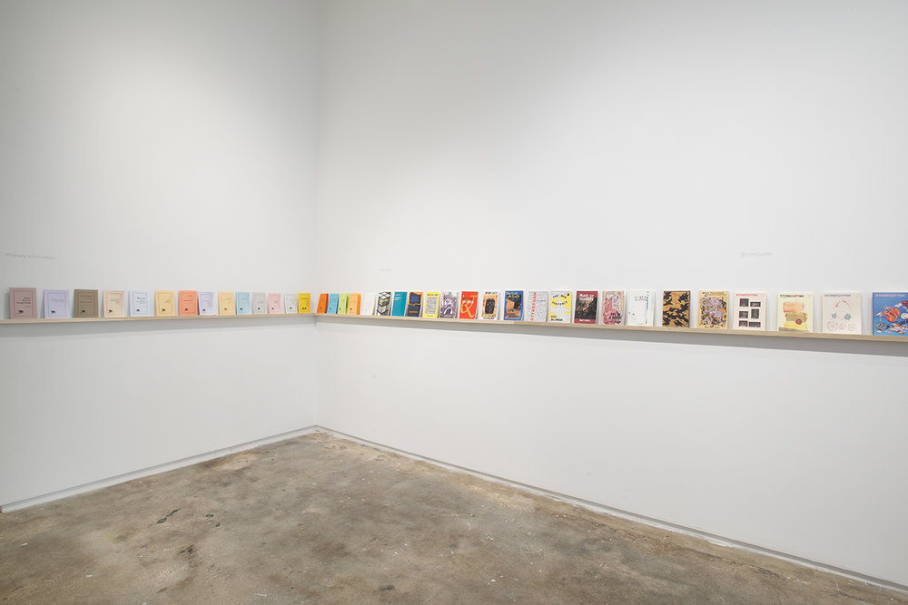 Installation view: Elective Affinities: A Library, Hunter College Art Galleries, 2017. Photo by Bill Orcutt.