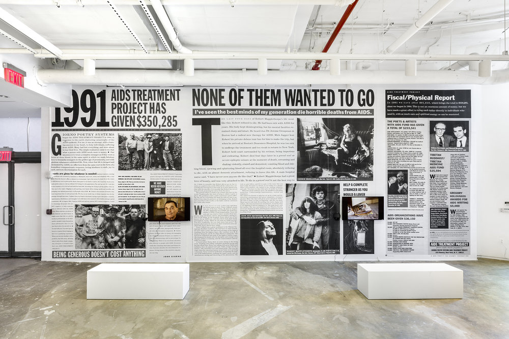 Installation View of John Giorno's AIDS Treatment Project (1984-2004), Photo Credit: Daniel Pérez