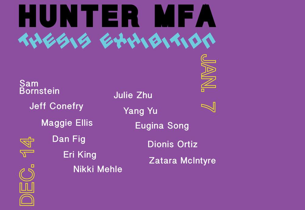 Hunter MFA Thesis Part II
